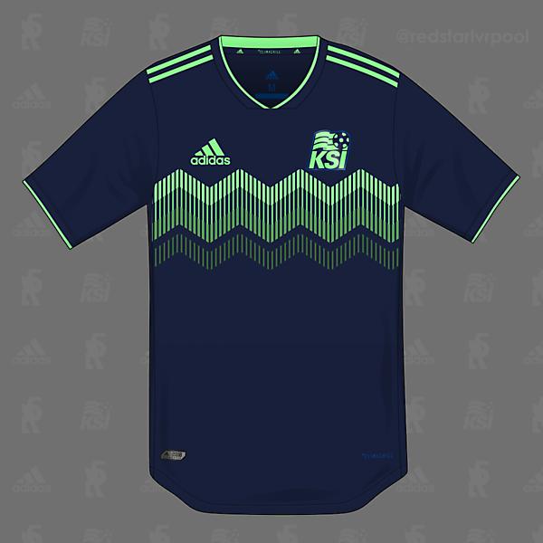 Iceland adidas Bonus Shirt 2018 - Northern Lights Colourway