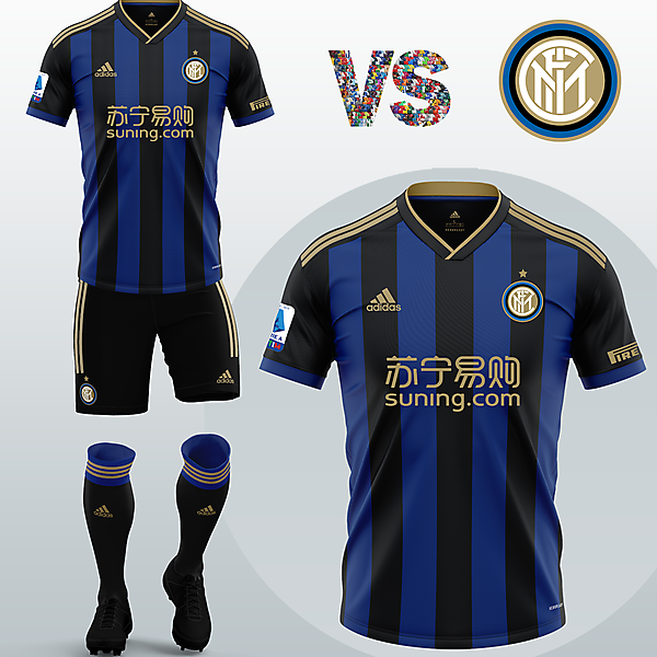 Inter Milan Home kit with Adidas (Concept 2020/21)