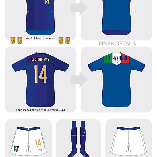 Italia home kit 2015 - WC comp