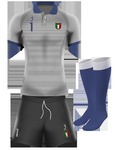 Italy goalkeeper kit by J-sports