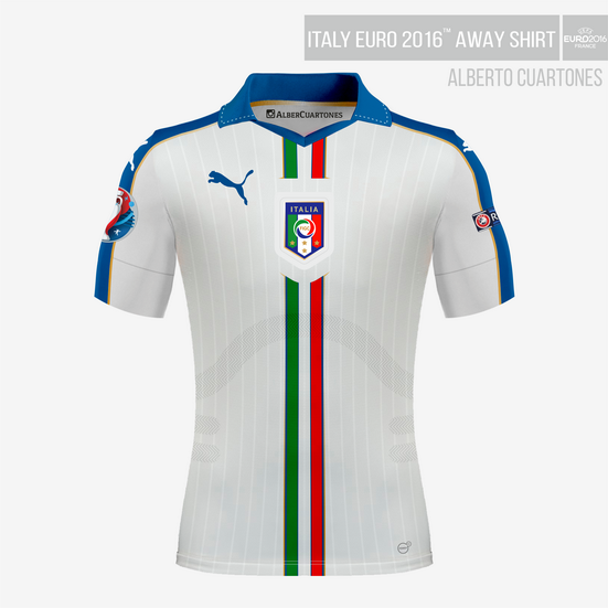 Italy UEFA EURO 2016™ Away Shirt