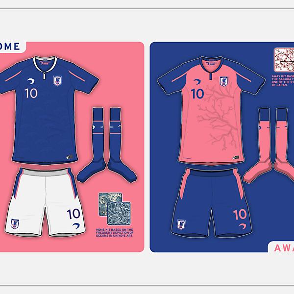Japan Home & Away kits