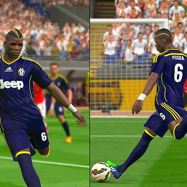 Juventus Adidas Blue-Yellow