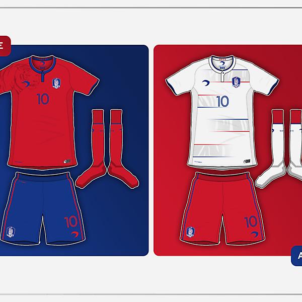 Korea Rep. Home & Away kits