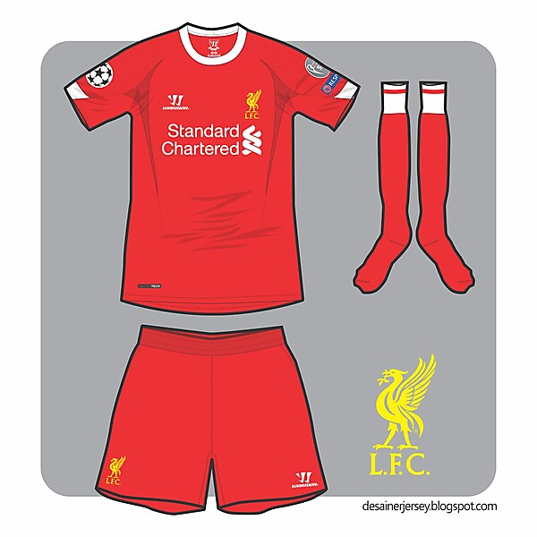 Liverpool 14/15 UCL Home Kit