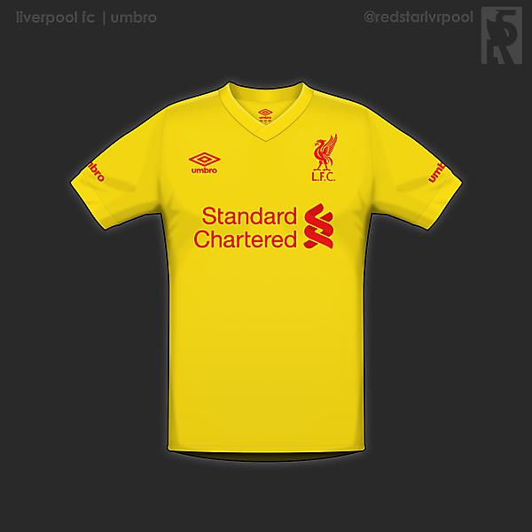 Liverpool away shirt- umbro