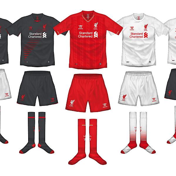 Liverpool FC kit combinations
