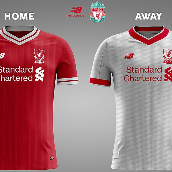 Liverpool Home & Away 17/18 Concept Kits