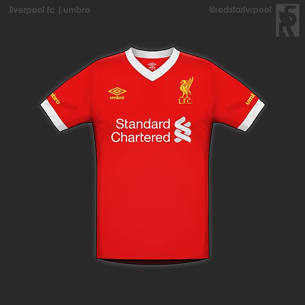 Liverpool home shirt- umbro