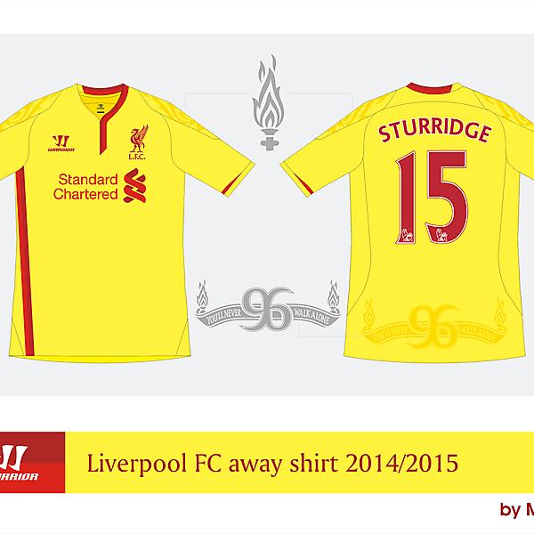 Liverpool Warrior away shirt 2014/2015