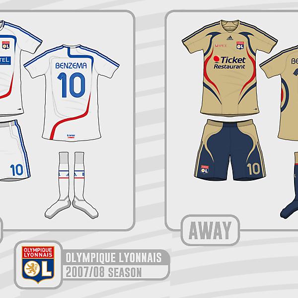 Lyon 2007/08 adidas Kits (What if)