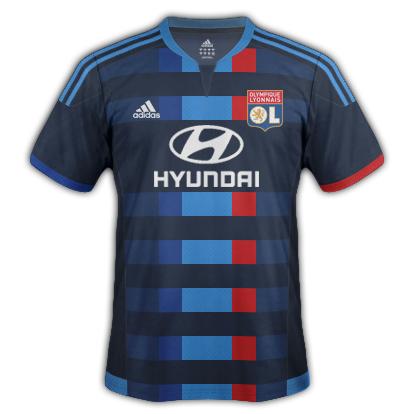 Lyon fantasy Away kit with Adidas