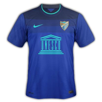 Malaga Away kit for 2014/15 with Nike