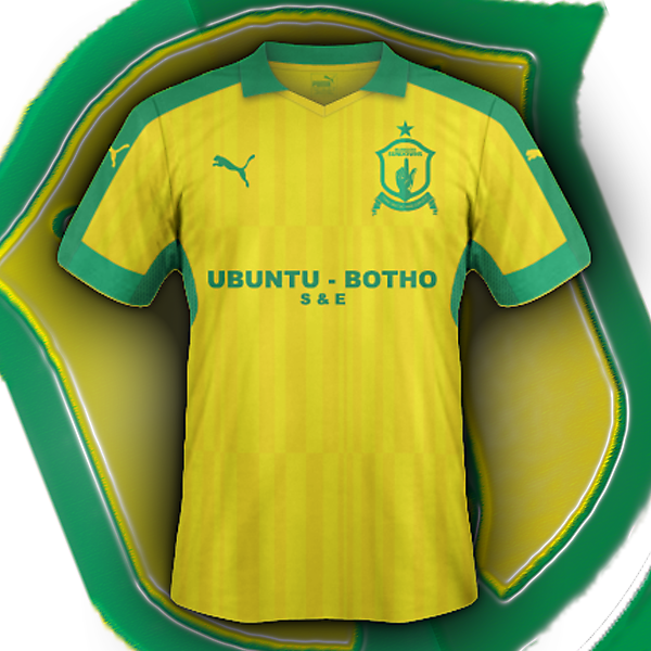Mamelodi Sundowns home (based on my crest redesign for CRC)