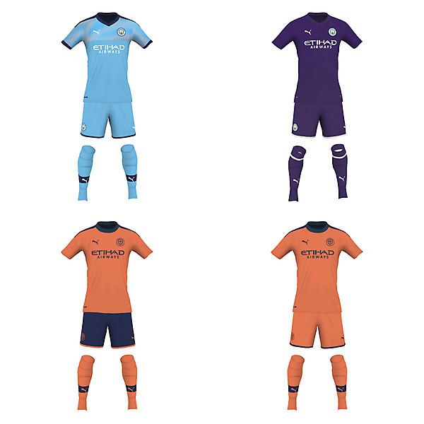 Man City fantasy 19/20 kits