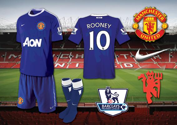 Man Utd Blue Away Kit