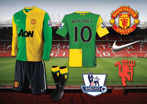 Man Utd Green and Gold Kit