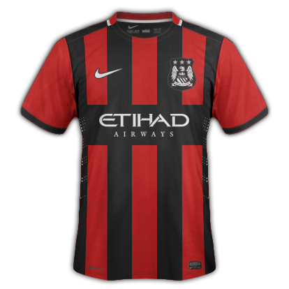 Manchester City Away kit for 2015/16 with Nike