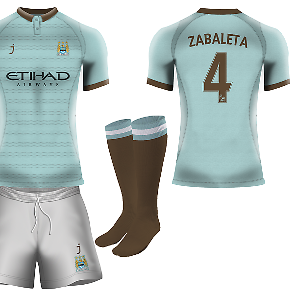 Manchester City home kit by J-sports