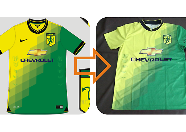 Manchester United/Newton Heath shirt comes to the real world
