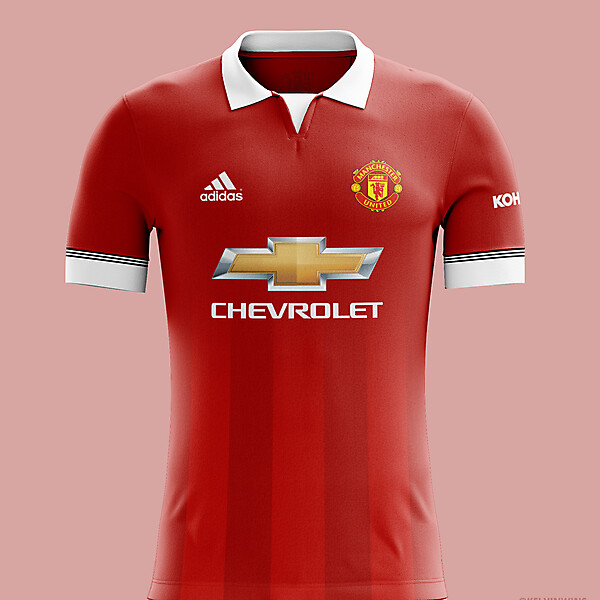 ManchesterUnited - Home Kit Concept #mufc