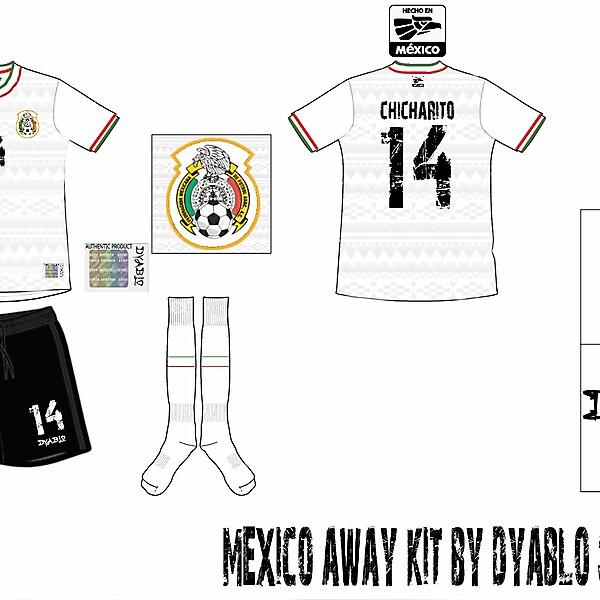 Mexico Away Kit by DYABLO Sportswear.