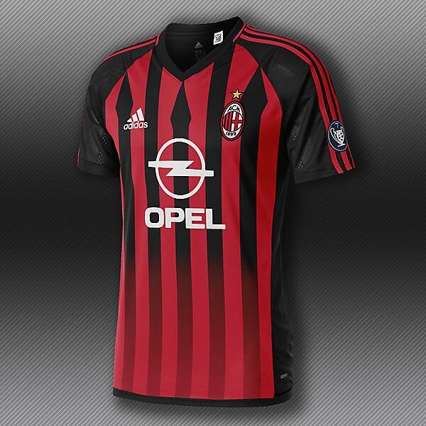 Milan x Adidas vintage tribute kit