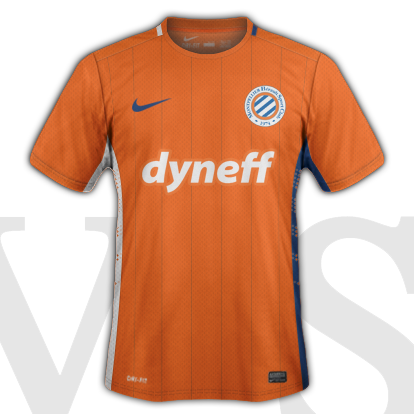 Montpellier HSC Away kit 2015/16 with Nike