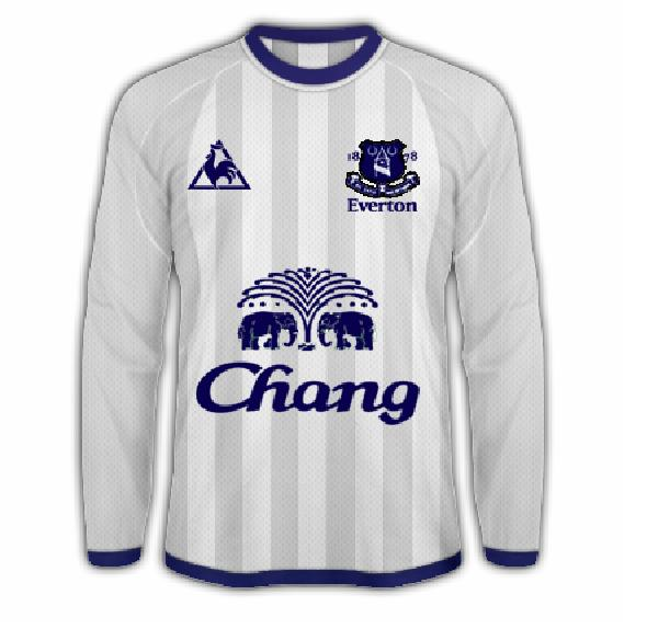 Everton Le Coq Sportif Away Shirt