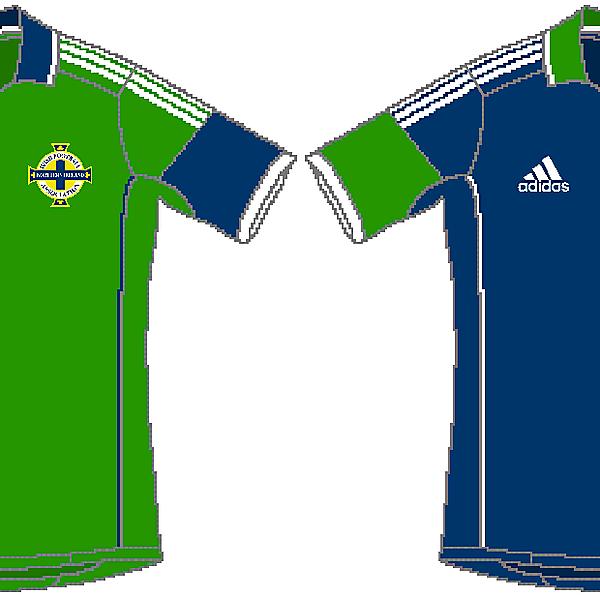 Northern Ireland Adidas Home and Away