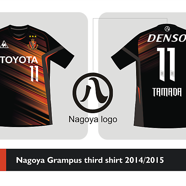 Nagoya Grampus Third shirt 2014 2015