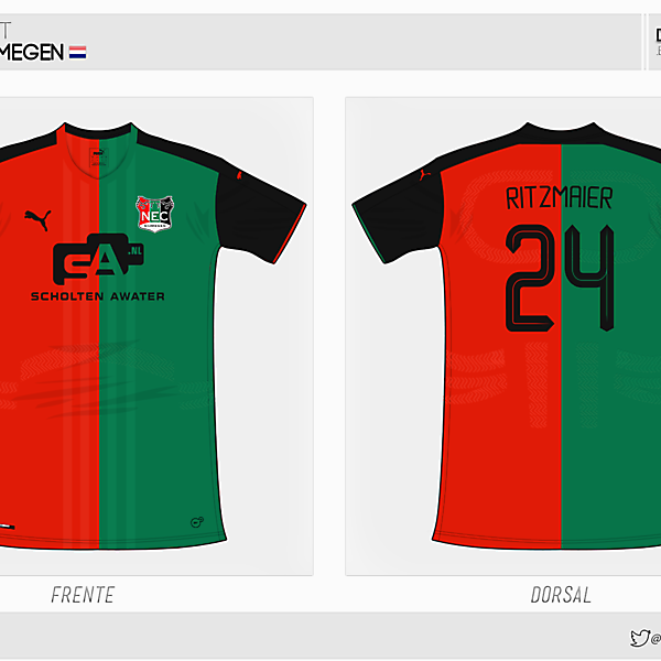 NEC Nijmegen   home kit