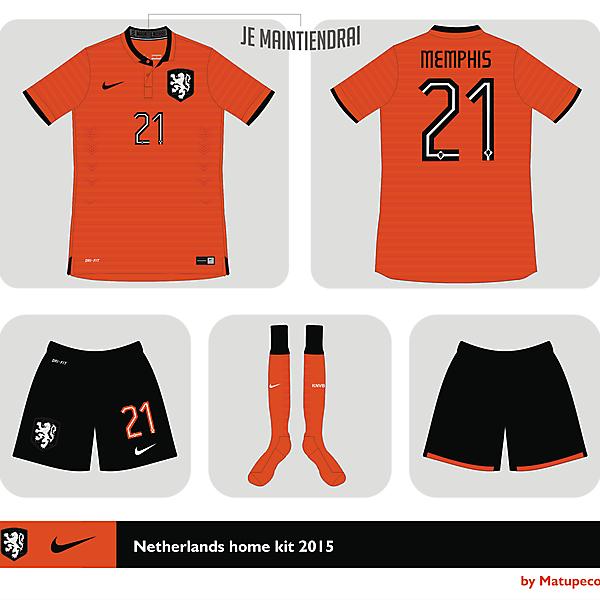 Nederland Nike Home kit 2015 - 2016