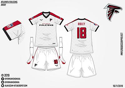 #NFLtoSoccerProject - Atlanta Falcons (Away)