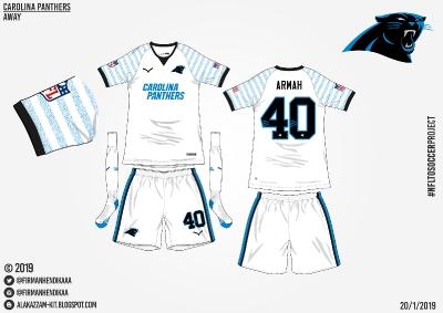 #NFLtoSoccerProject - Carolina Panthers (Away)
