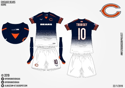 #NFLtoSoccerProject - Chicago Bears (Home)