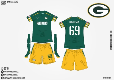 #NFLtoSoccerProject - Green Bay Packers (Home)