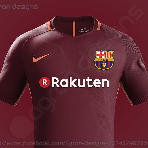 Nike Fc Barcelona 2017-18 Third Kit Based On Leaked Images