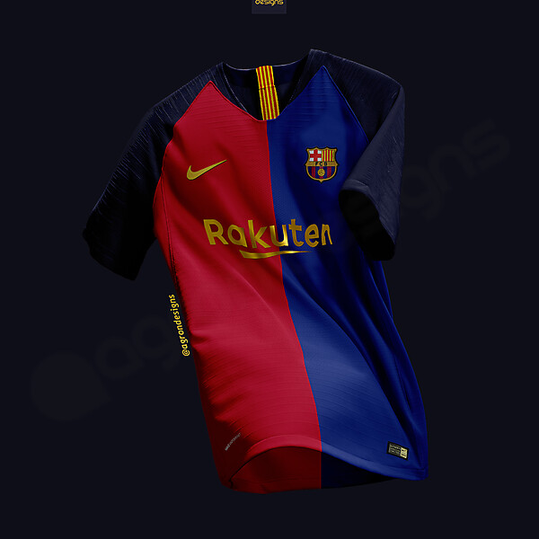 NIKE FC BARCELONA  HOME KIT CONCEPT(1999-2000 CENTENARY KIT INSPIRED)