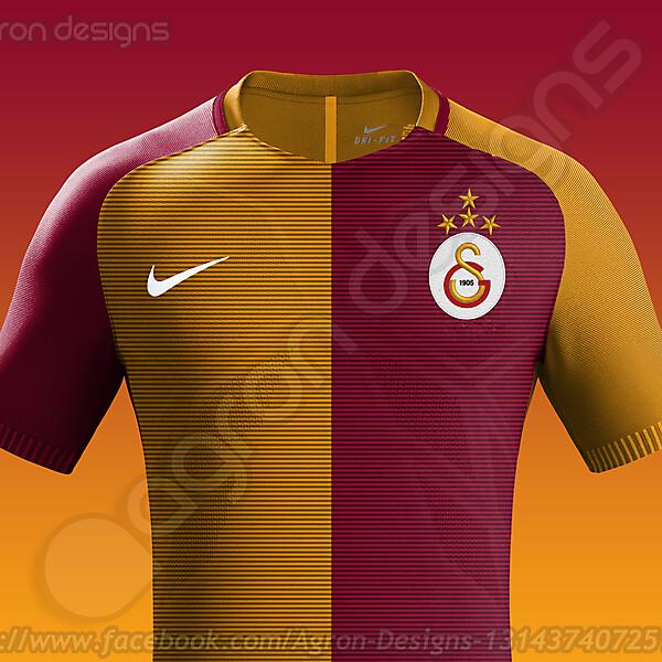 Nike Galatasaray Home Kit 2016-17 based on leaked images