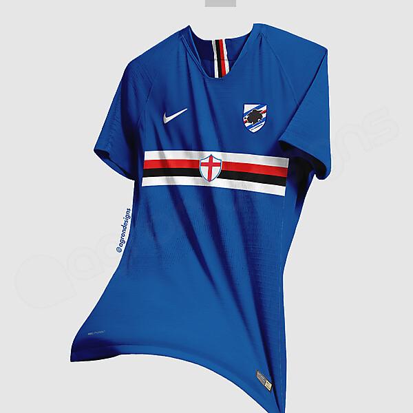 Nike Sampdoria Home Kit Concept