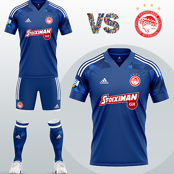 Olympiacos FC Away kit with Adidas (2020/21)