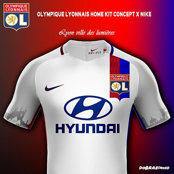 Olympique Lyonnais Home Kit concept x Nike