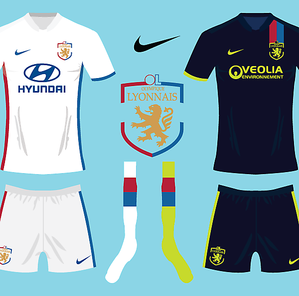 Olympique Lyonnais Nike Kit