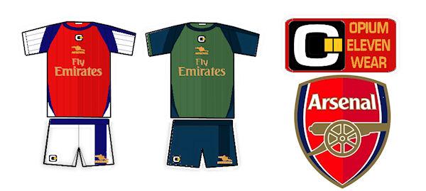 Arsenal Kits by Opium Eleven Wear (c)