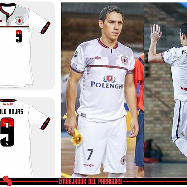 Pablo Rojas Futsal Away kit 2015 by Kyrios