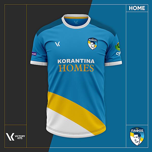 Pafos FC Home Shirt 2021 Concept