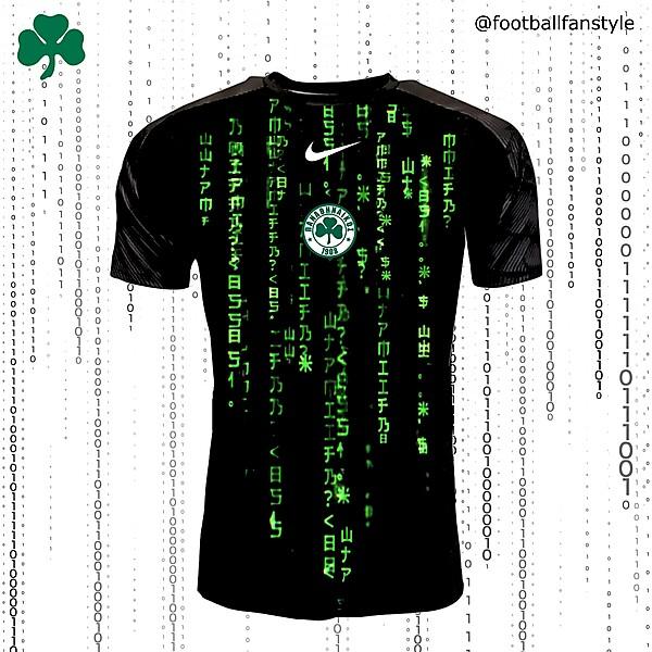 Panathinaïkós FC x Nike x The Matrix away concept kit