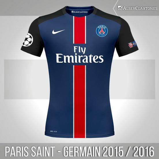 Paris Saint-Germain 2015 / 2016 Home Shirt (according to leaks)