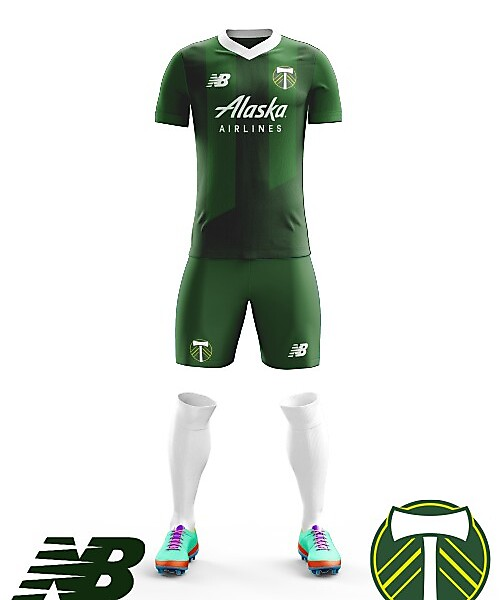 Portland Timbers New Balance Home Kit 2018
